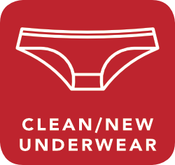 icon of clean underwear which is acceptable for recycling