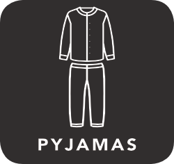 icon of pyjamas which are unacceptable for recycling