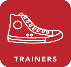 icon of trainers which are acceptable for recycling