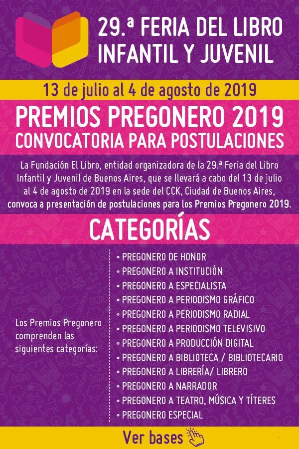 Convocatoria abierta - Premios Pregonero 2019