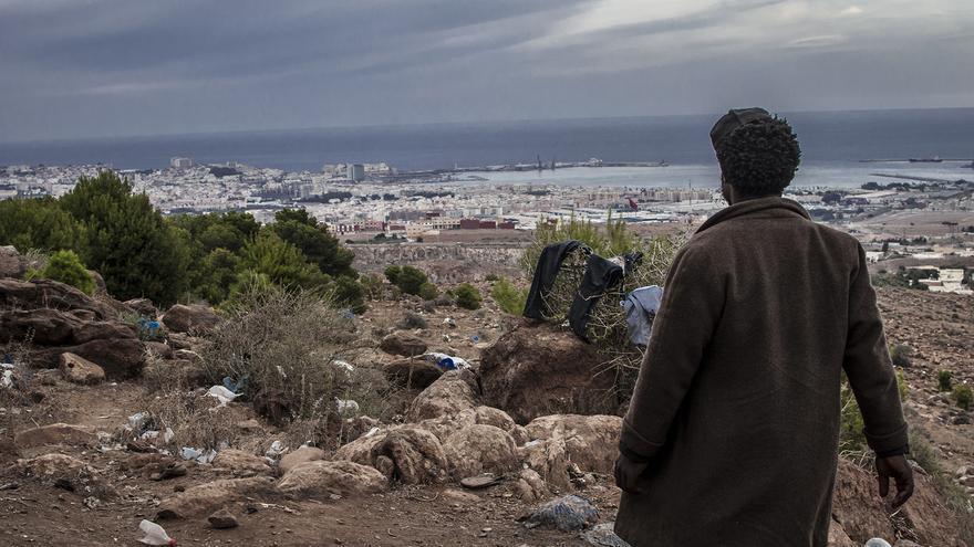 Los bosques de los montes de Nador empiezan a vaciarse de inmigrantes que buscan sitios más tranquilos./ Jesús Blasco de Avellaneda