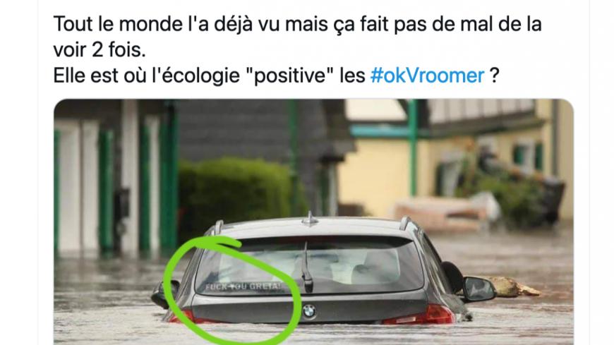 Inondations : il se réjouit de voir une BMW sous l'eau, un vice-président de la Métropole de Lyon chahuté sur Twitter