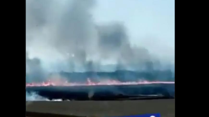 Près de Lyon : important feu de récolte en cours dans le Nord-Isère