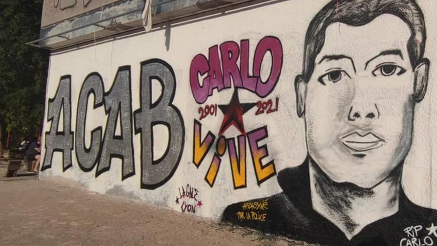 Lyon : une immense fresque anti-policiers réalisée dans le quartier de la Guillotière
