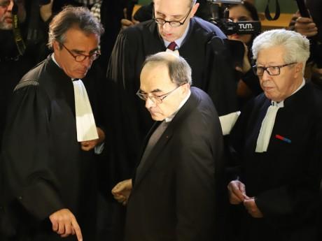 Le cardinal Barbarin lors de son premier procès - LyonMag