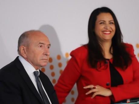Fouziya Bouzerda aux côtés de Gérard Collomb - Lyonmag.com