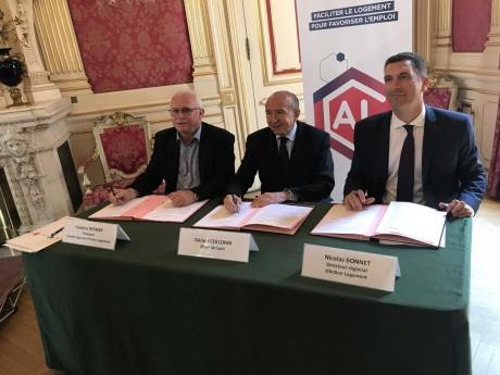 Signature entre le maire de Lyon et Action Logement - LyonMag