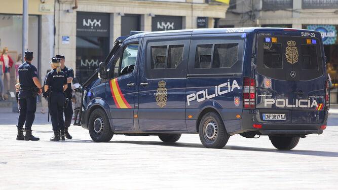 Imagen de archivo de agentes de la Policía Nacional.