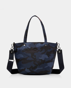 Dark Blue Camo Bedford Small Soho Tote (11121311) in Dark Blue Camo