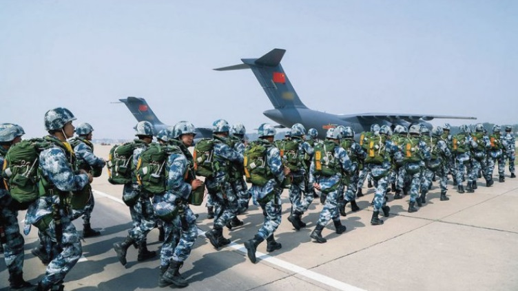 China's PLAAF conducted its first airdrop and air delivery training exercise using the Y-20 strategic transport aircraft last year circa May