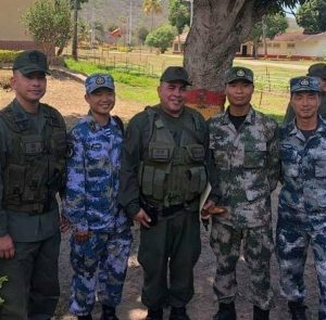 (Chinese PLA personnel pose with members of Venezuela's National Bolivarian Armed Forces, March 29, 2019)