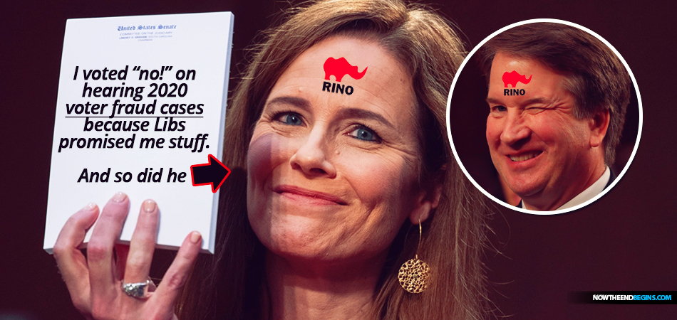 brett-kavanaugh-amy-coney-barrett-side-with-liberals-vote-no-on-hearing-2020-election-voter-fraud-cases-biden-george-soros-donald-trump