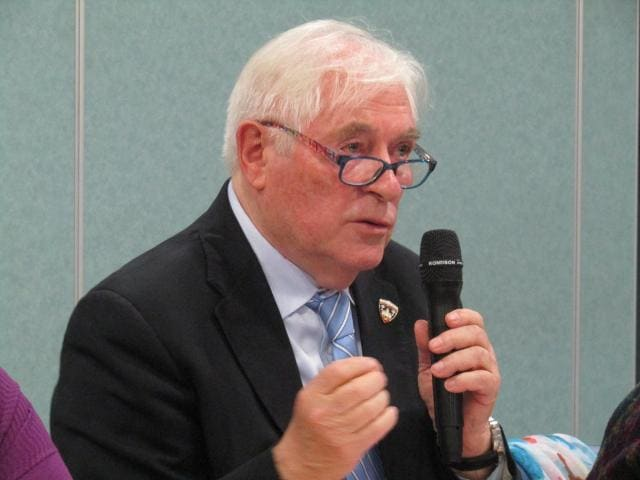 Maurice Renaud, président de l'association des Amis des vétérans américains, gardienne de la mémoire des parachutistes de 1944.