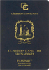 Passport cover of St. Vincent and the Grenadines