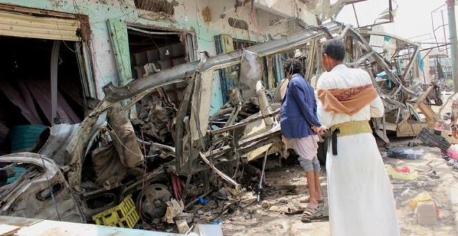 Imagen instantes después del atentado. | EFE