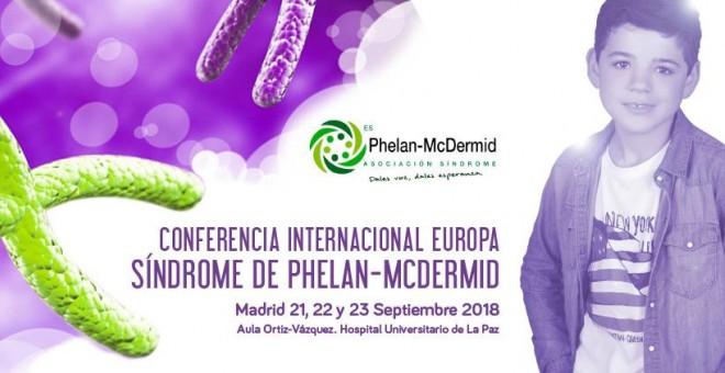 Cartel de la Conferencia Internacional de Síndrome de Phelan-McDermid - Página web de la organización