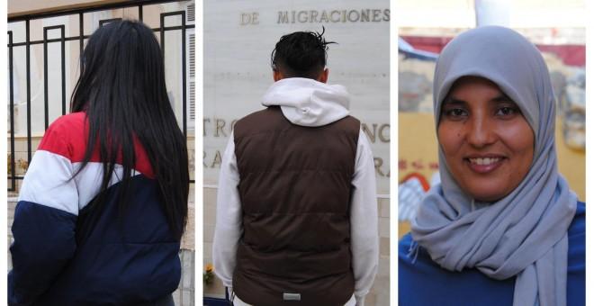 Naima, Selima o Nora posan en la calles de Melilla para el reportaje.- IRENE QUIRANTE