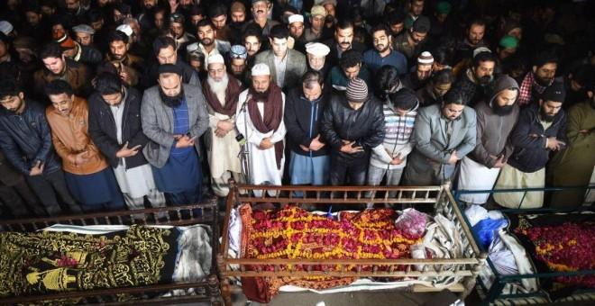 Funeral de la familia de Umair Khalil el 20 de enero de 2019 | AFP