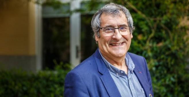 Gilles Boeuf posa en el patio interior del Instituto Francés de Madrid minutos antes de su entrevista con SINC. / Álvaro Muñoz Guzmán