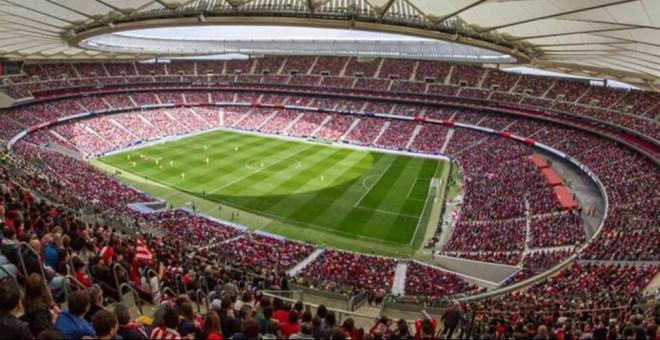 Estadio Wanda Metropolitano, durante un evento deportivo. EFE