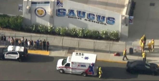 Imagen aérea de la zona del tiroteo en de Santa Clarita./ Reuters