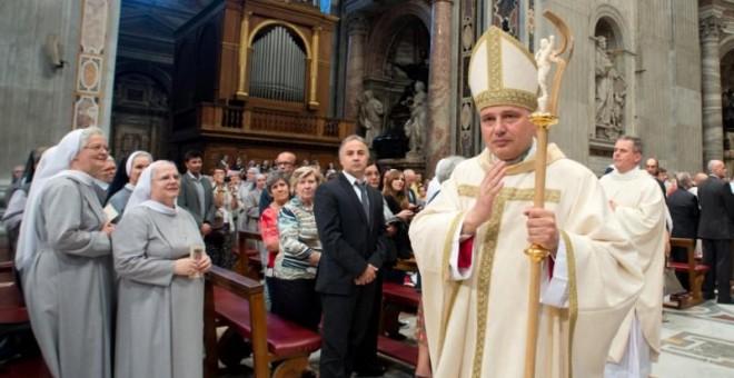 El cardenal Konrad Krajewski. Reuters