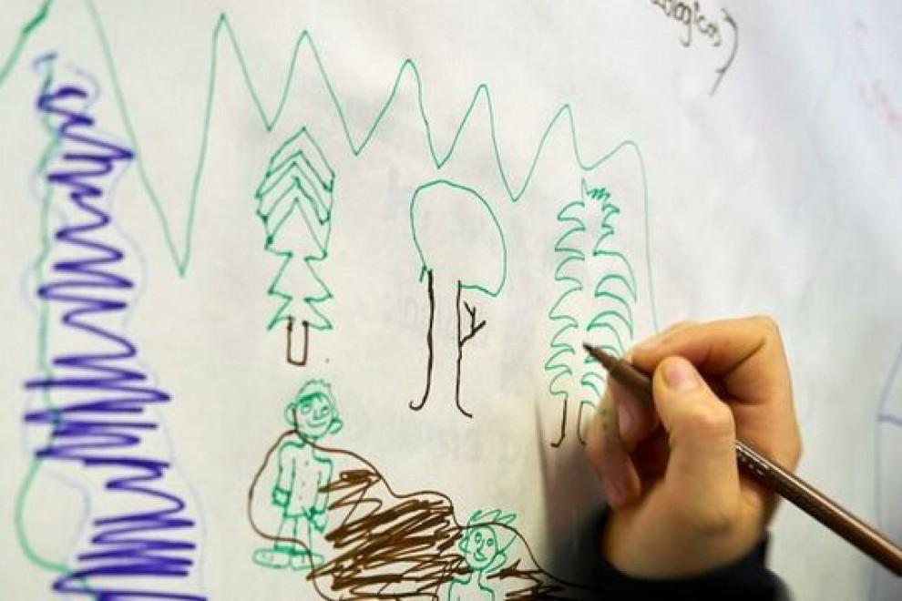 dibujo de niño. SAP, Interés superior del  menor