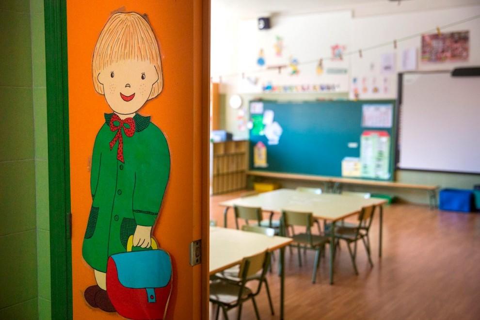 Un aula vacia en un colegio público. EFE/Raquel Manzanares/Archivo