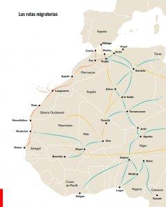 Mapa de las rutas migratorias de los menores migrantes.- SAVE THE CHILDREN