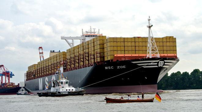 Containerschiff MSC Zoe