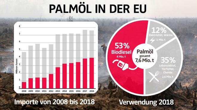 Palmöl in der EU: Importe und Verwendung 2018