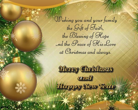 Wishing You And Your Family The Gift Of Faith Merry Christmas And Happy New  Year - Segerios.com