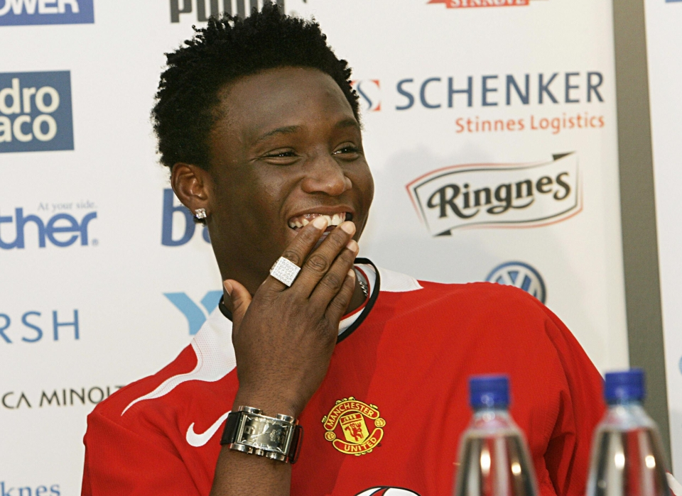 John Obi Mikel even had a press conference where United announced him as their player