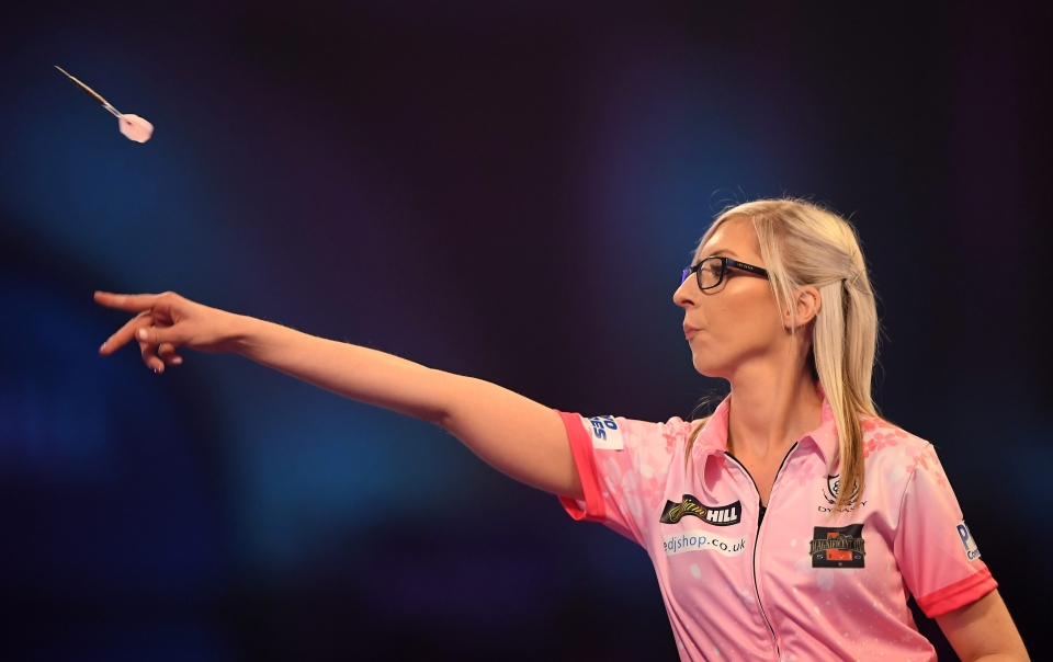 The Bucks star produced the performance of her life to beat Ted Evetts 3-2 in the first round of the PDC Champs