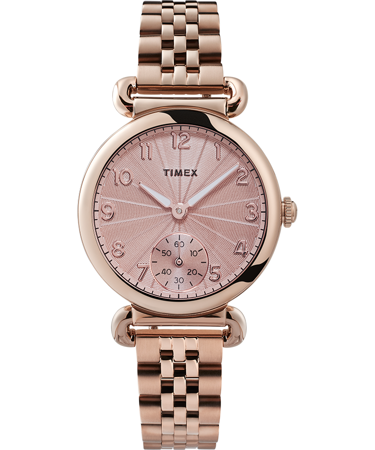 Timex Watch Women's Model 23 33MM Stainless Steel Bracelet Rose Gold-Tone/rose Gold-Tone   Item # Tw2T88500Vq