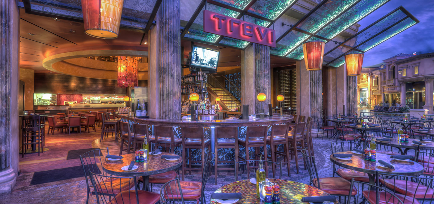 Image result for TREVI Italian Restaurant inside the Forum Shops at Caesars Palace