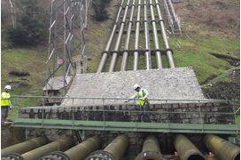 Le chantier de remplacement des 7 conduites forcées de l'usine hydroélectrique d'Eget, dans les Hautes-Pyrénées devrait mobiliser 10 millions d'euros sur deux ans (2018-2019).
