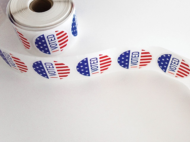 A roll of I Voted Stickers.