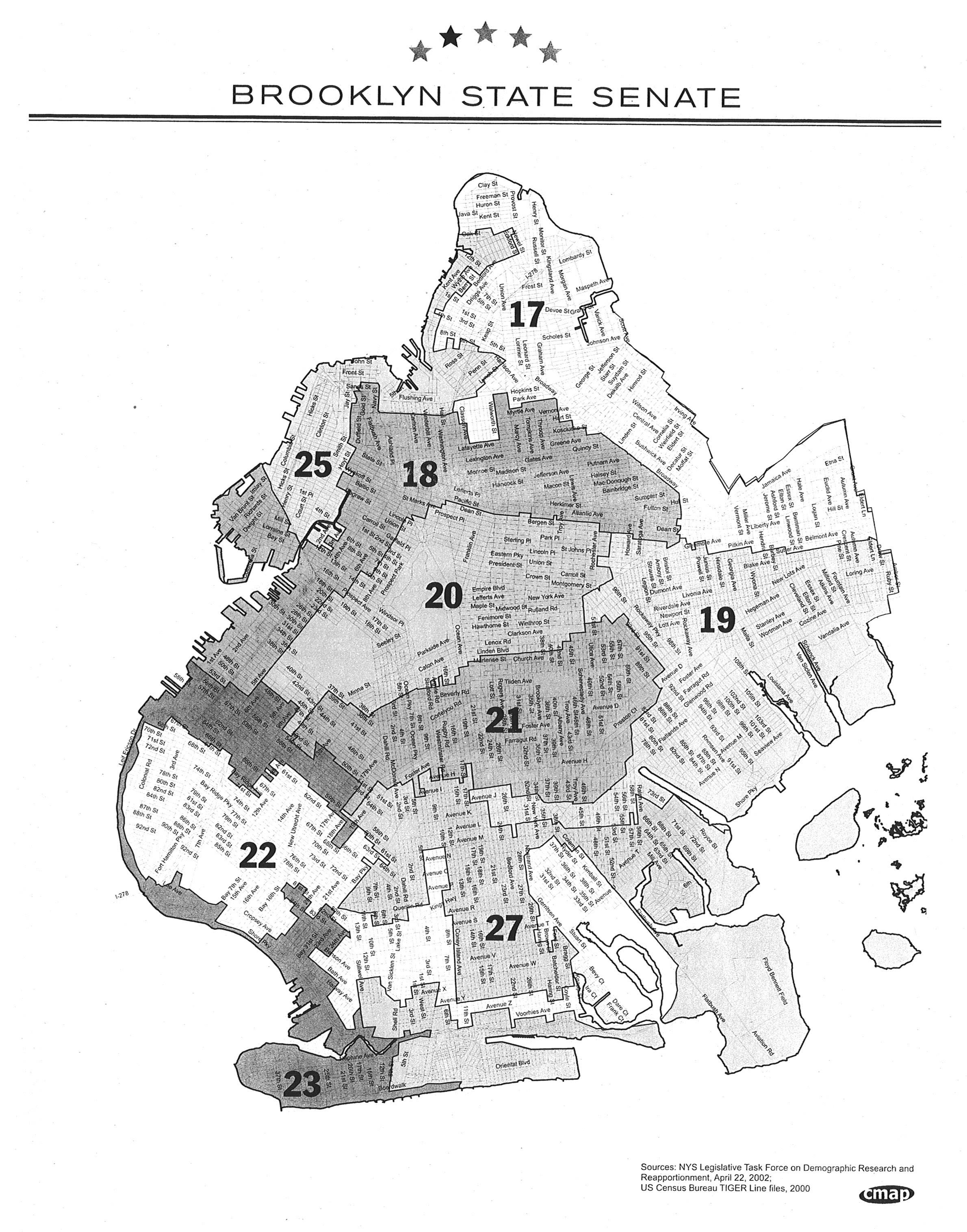 Brooklyn state senate map